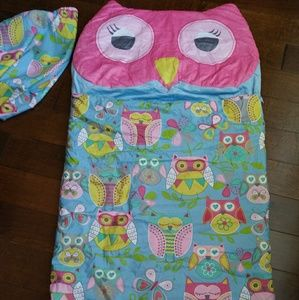 Girl night owl Sleeping bag